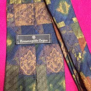 Zegna silk pattern tie